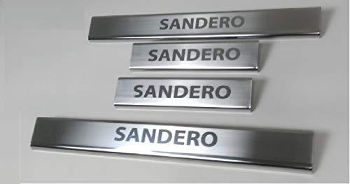 SANDERO STEPWAY roestvrij staal chroom deur dorpel krasbescherming 4 deuren