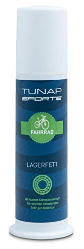 TUNAP SPORTS Lagerfett, 100 g | Schmierung für die Tretlager, Steuersatz und Getriebe am Fahrrad | Paste aus praktischem Spender ohne verschmierte Finger (Spender 100g)