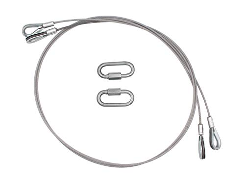 Bylot Replacement Cables with EZ Spring Clips, Compatible with Gorilla Lift, 2pcs