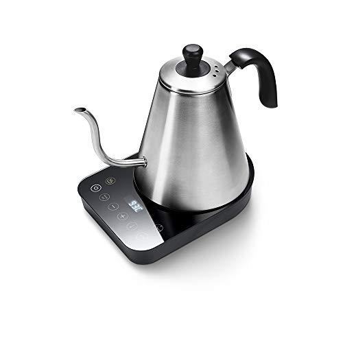 Tchibo Barista Elektrischer Schwanenhalskessel/Wasserkocher (aus Edelstahl, 800 ml, 1000 Watt, schwarz/silber)