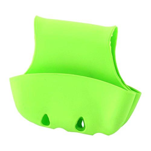 Uxcell - Escurridor de esponja de doble sillín de PVC, color verde