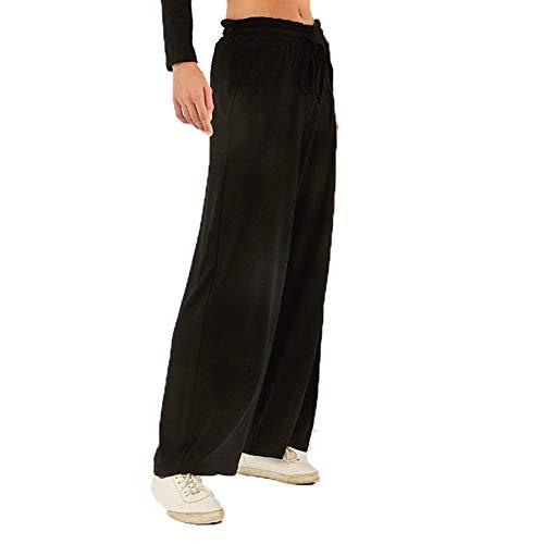 Pantalones de Pierna Ancha para Correr para Mujer Pantalones de chándal Holgados y cómodos para Mujer Pantalones Deportivos duraderos para Yoga Pantalones Rectos de Secado rápido al Aire Libre