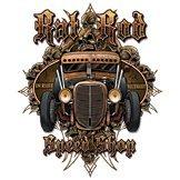 Camiseta Outlaw Hot Rod Garage Rockabilly Kustom V8 Old Skool Consejo Rod US Car Big Block