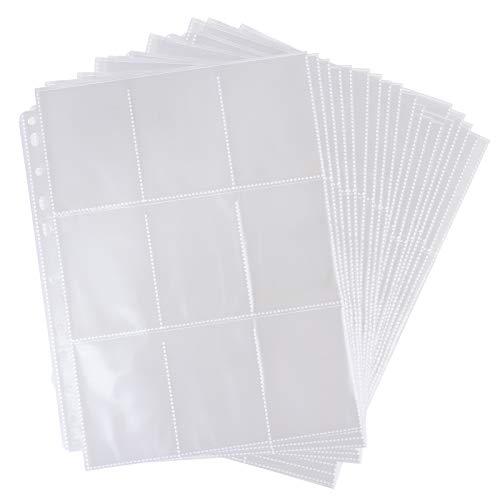 Altopbum 540 Pockets Sammelkarten Folien Hülle 30 Seiten Pro 18-Pocket Sammelkarten Einsteckhüllen Transparent wasserdichte Leere Sammelmappe für Sammelalbum Karten Spielkarten Anime-Karten