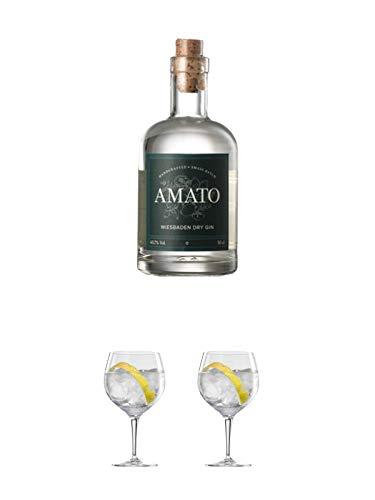Amato Gin Deutschland 0,5 Liter + Ballon Bistro Cubata GIN Glas 1 Stück + Ballon Bistro Cubata GIN Glas 1 Stück