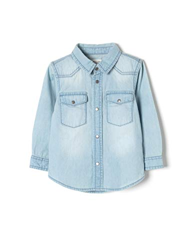 ZIPPY ZTB0301_455_5 Camisa, Azul (Light Blue 2601), ((Tamaño del Fabricante:9/12M) para Bebés