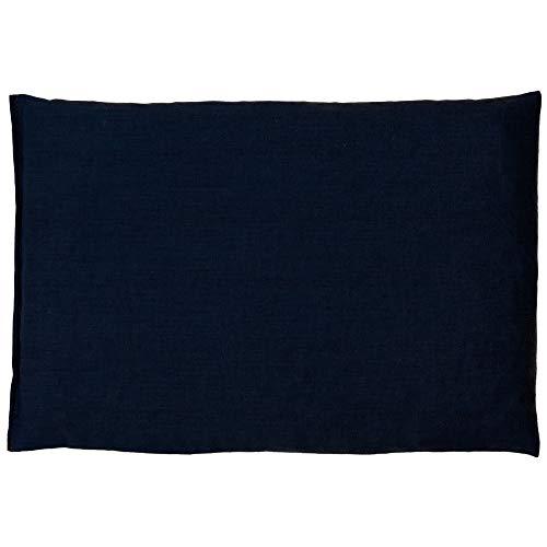 Kirschkernkissen 30 x 20 cm, dunkelblau - Als Wärmekissen & Kältekissen - Körnerkissen für Mikrowelle und Backofen (30x20cm)