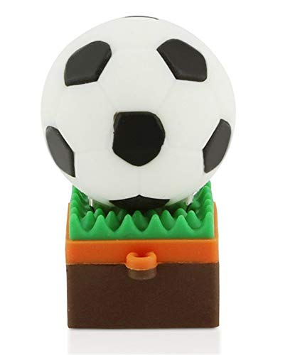 Fútbol Hierba Verde 16 GB - Football Green Grass - Memoria Almacenamiento de Datos - USB Flash Pen Drive Memory Stick