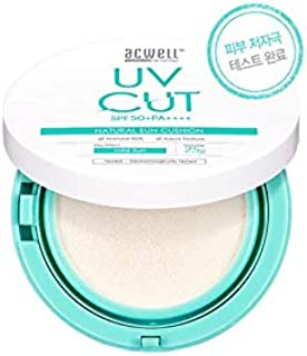 ACWELL UV CUT NATURAL SUN CUSHION 25g, SPF 50+ PA++++ [Made in Korea]