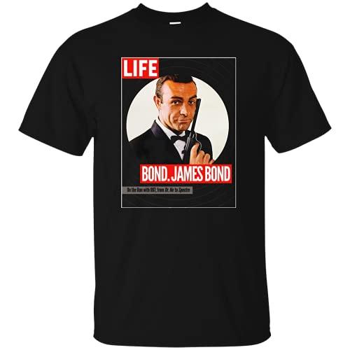 ROMON James Bond, Sean Connery, Dr. No, Goldfinger, Thunderball, 007, Magazine, C Black 3XL