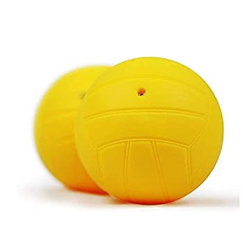 Roundnet Game Replacement Balls 2-Pack Set Mini Volleyball Dodgeball Compatible with Spikeball