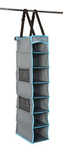 Bo-Camp Organizer, multifunctioneel, tot 7 vakken, 30 x 17 x 84 cm, grijs