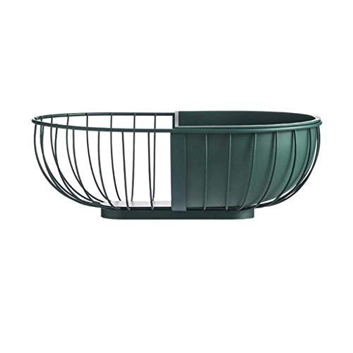 JIANGCJ Bandeja de metal de gama alta para frutas y verduras, recipiente de cocina, escurridor, moderno, diseño nórdico, cesta de almacenamiento de frutas y verduras (color: B)