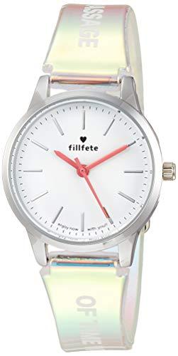 [フィールドワーク] 腕時計 アナログ シーラ 女の子 向け ビニールベルト 白 文字盤 KDS007-1 マルチカラー