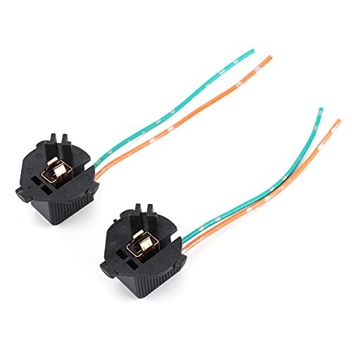 Soporte para lámpara trasera de coche, Fydun 1 par de soportes para lámpara trasera, luz trasera H1, adaptador de bombilla LED, enchufe de repuesto para KIA K7
