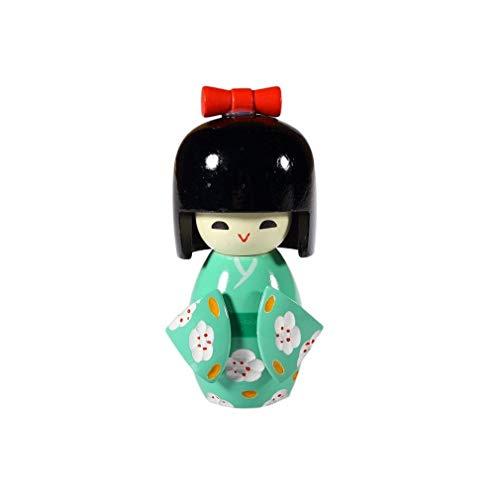 lachineuse Muñeca de Japón Kokeshi – TSUBOMI – Suerte y éxito