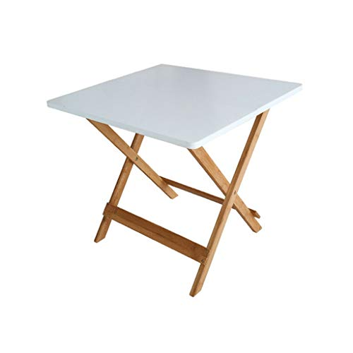 SZQ-Table Basse Table Pliante, Facile à Transporter Table de Loisirs en Bambou de Table de Loisirs de Jardin de Balcon en Plein air de Balcon Table de Sofa (Size : 50 * 50 * 50cm)