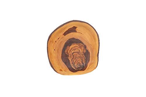 Cuenco rústico de madera de oliva, aprox. 14 cm