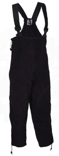 U.S. Government Contractor Polartec 200 Fleece Overalls Extreme Cold Weather ECWCS Gen II, Genuine U.S. MIlitary Issue, Black (Medium Short/Regular)