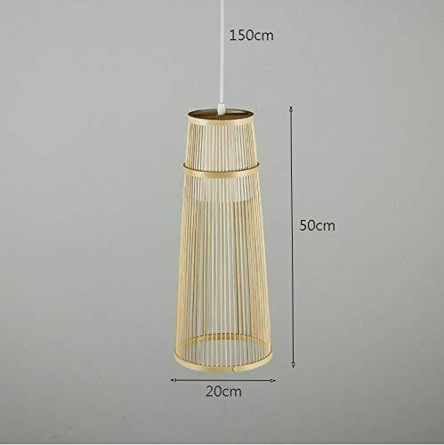 ZHYZN Pendenti di bambù, lampade Perline Hotel Lounge penzolare luci Decorative per l'illuminazione soffitto in Legno Semplice E27 Singola Testa 20 * 50 Centimetri 150 Centimetri luci Cablaggio ingeg