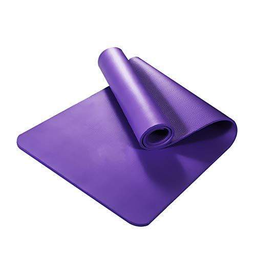Attrezzatura yoga antiscivolo addensare NBR Palestra Home Fitness Esercizio Sport Yoga Pilates Mat Tappeto - Viola GlobalDeal Direct