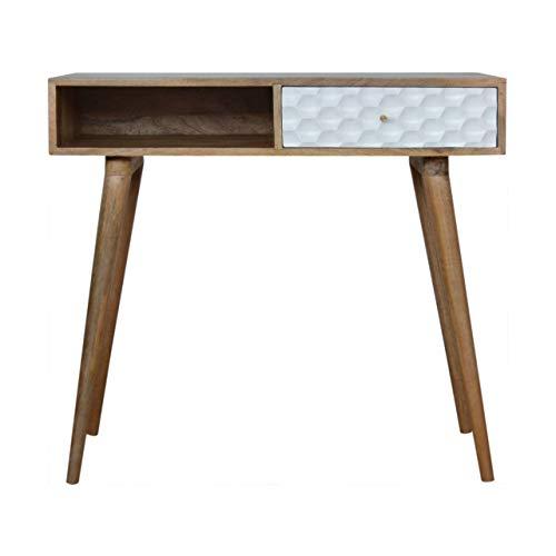 Artisan Furniture Honeycomb Carved Writing Desk Escritorio, Madera, marrón, Talla única