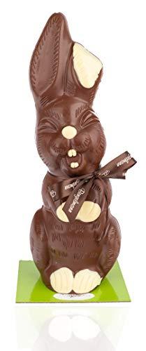 Schoko Osterhase groß XL 1,1kg aus Vollmilch-Schokolade - ideal als Geschenk zu Ostern