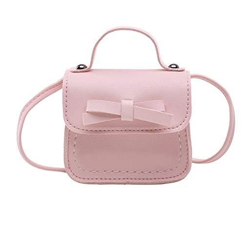 DQANIU 🍒🍒 Kinder niedlich Prinzessin Messenger Bag Girl Bag Bow Baby Schultertasche Handtasche Tasche