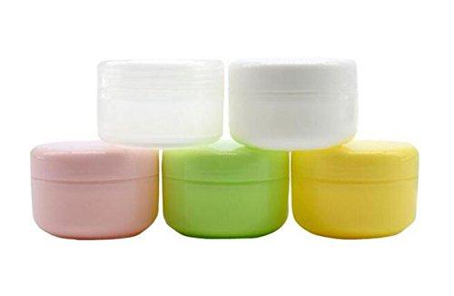 6pcs 100 ml – Jarra de plástico crema para la cara de sombra de ojos vacíos y rellenables contenedor Pot Lip balm Loción Botella de botes de cosméticos