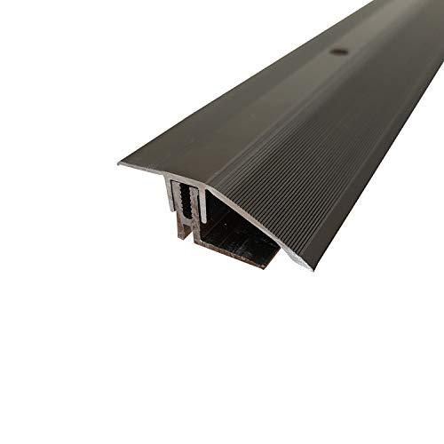 ufitec® TPL Profi MAX Profilsystem für Parkettböden - geeignet für Belagshöhen von 14-21 mm - ALU eloxiert (Höhenausgleichsprofil   Länge: 100 cm, Bronze Dunkel)