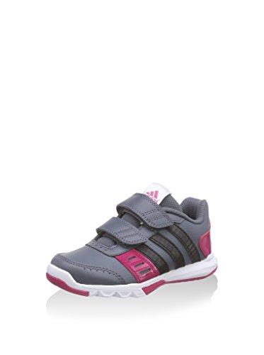 adidas Essential Star 2 CF Kid, Zapatillas para Niños, Gris/Negro/Rosa, 32 EU