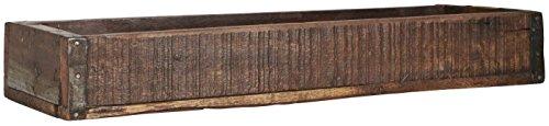 Holzkiste Ordnungsbox Allzweckkiste mit Metallbeschlag Antik Altholz 43,5 x 14,5 x 6,5 cm jede Kiste ein Unikat