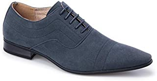 Majestic Collection Men's Shoes Majestic Lace-up Dress Shoe Faux Suede Leather