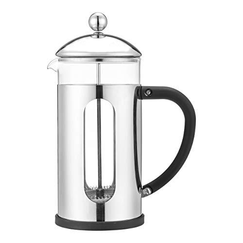 Café Olé Desire Cafetière, 800 ml 2 kubki stal nierdzewna francuska prasa ekspres do kawy, srebrny, BVM-08S