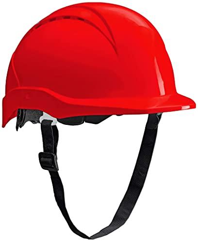 ACE Patera Casco Obra - Casco Seguridad - Casco de Trabajo con Cierre de Rosca, Ventilado y Ajustable - Rojo ⭐