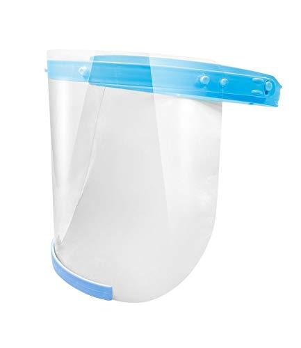 2X Gesichtsschutz Plexiglas aufklappbar - Schutzvisier für Gesicht - Face Shield Maske - Spuckschutz Plexiglas - Visier aus Kunststoff - Schutzschild Gesicht - 2X Halterung + 4X Visiere