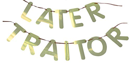 ROFLmart Funny Later Traitor Banner Going Away Last Day Office Party Decoration