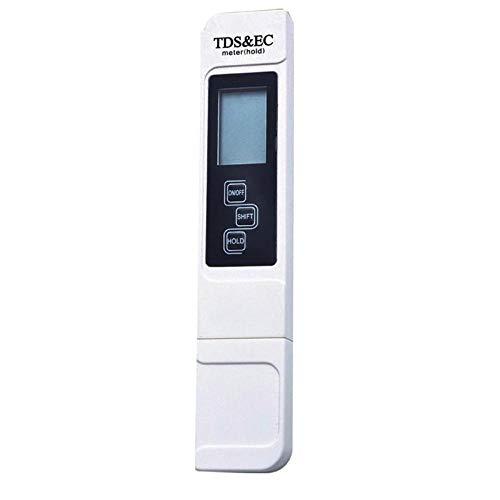 NZHSAMJ Testeur de Compteur numérique TDS Portable Qualité de l'eau Filtre de pureté Testeur EC Test Pen 0-9990 PPM Temp Testeur d'eau Précis