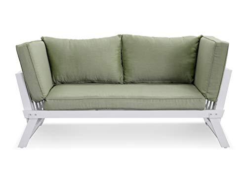LANTERFANT – Loungebank Lars, Gartenbank, Modular, erhältlich in Zwei Farben, Clay, Ton, Ecru, Weiß, Grün