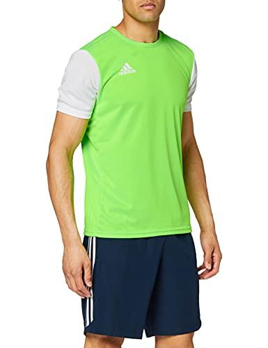 adidas Estro 19, Maglia Uomo, Solar Green/White, M