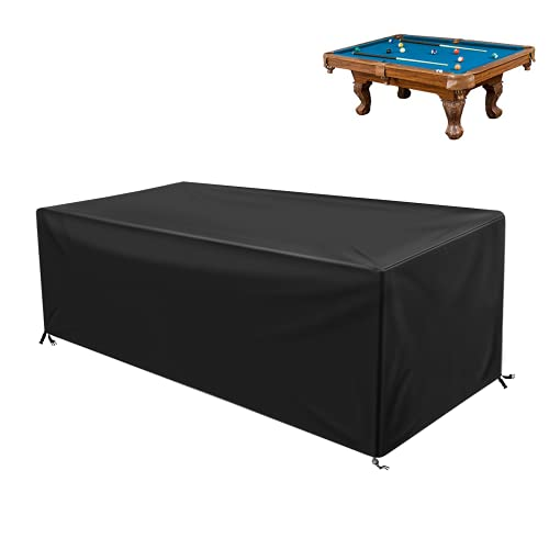 GEMITTO 7/8/9 ft Pool Table Cover, Waterproof Billiard Cover Polyester Fabric for Snooker Billiard...