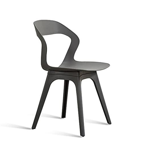 QIAOLI Silla de comedor nórdica, moderna y minimalista, elegante silla de escritorio con respaldo taburete para cocina, comedor y dormitorio (color: gris)