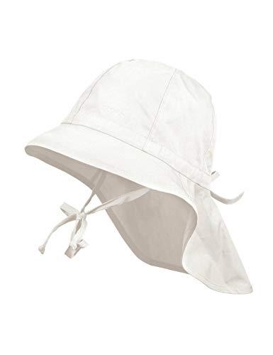 maximo Kinder Sonnenhut Nackenschutz Sommerhut Baumwollhut Hut (47 cm - weiß)