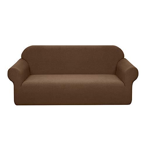 Granbest - Funda para sofá de 2 plazas, elástica, impermeable, para sofá universal, para gatos, perros (sofá, marrón)