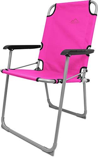 normani Leichter Klappstuhl Angelstuhl Campingstuhl bis 90 Kg Belastbarkeit Farbe Rosa