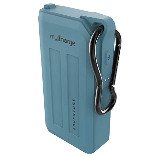 myCharge Portable Charger Waterproof Power Bank Adventure 6700mAh Internal Battery Fast Charging Rugged Heavy Duty Outdoor Small USB Battery Pack External Backup for Apple iPhone, iPad, Android – Blue