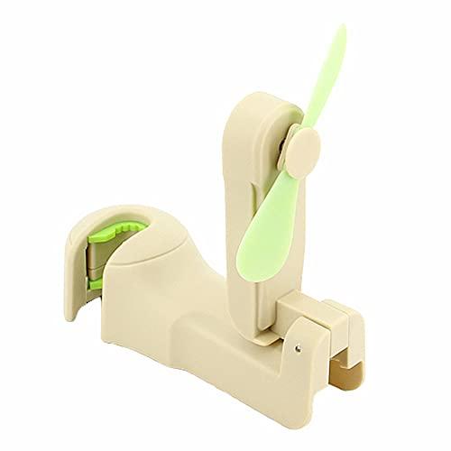 yinbaoer Ventilador De Mesa con USB Ligero Ventilador PequeñO USB Ventilador Portatil De Sobremesa Piezas De AutomóVil Al Aire Libre Beige