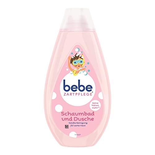 Bebe Zartpflege Schaumbad und Dusche für zarte, junge Haut, Sanfte Reinigung für zarte Haut- 1 x 500ml