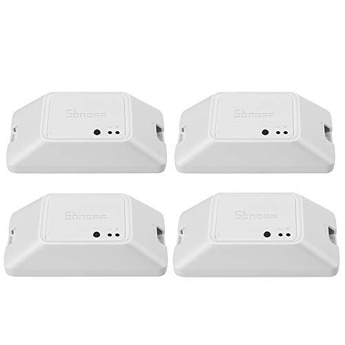 Docooler Basic R3 Inteligente ON/Off WiFi Interruptor Temporizador luz Soporte App/LAN/Control Vocal Modo FAI-da-Te