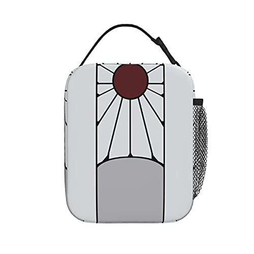 Tanjiro Earrings Demonslayer Lunch Bag,Portable Thermal Insulation Lunch Box, Large Capacity Dinner Bag For Work Travel Office Indoor Outdoor Picnic Camping
